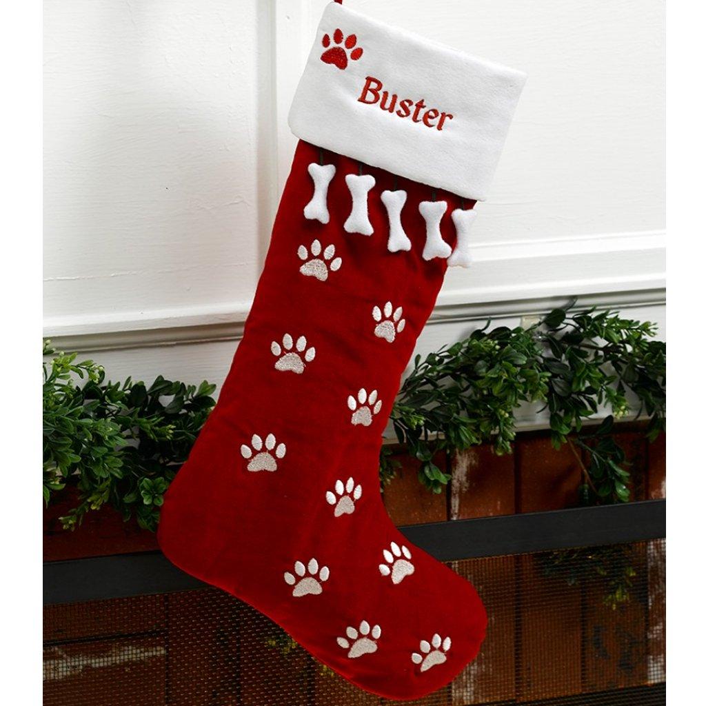 Cute Dog Personalized Christmas Stocking