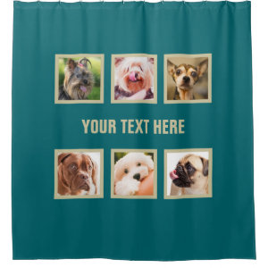Cute Dogs OR YOUR PHOTOS custom shower curtain