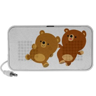 Cute Facetious Cartoon Bears Doodle Speaker