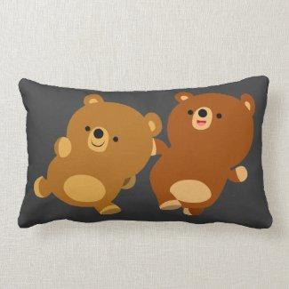 Cute Facetious Cartoon Bears Pillow