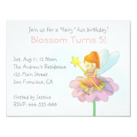 Cute Fairy, Girl Birthday Party Card