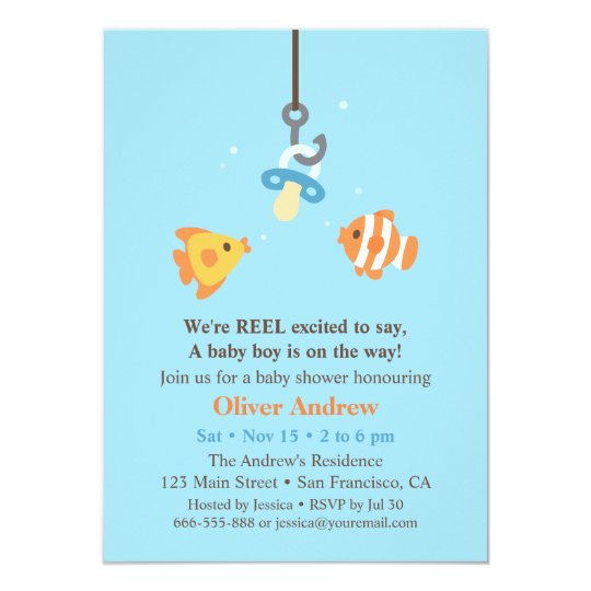 Unique Boy Baby Shower Invitations
