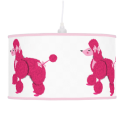 Cute Fluffy Pink French Poodles Lamps