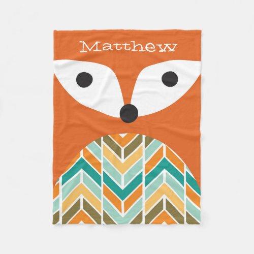 Cute Fox Fleece Blanket