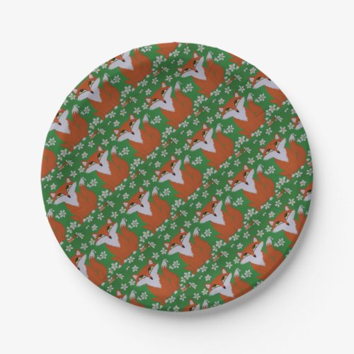 Cute Fox Party Supplies Paper Plate