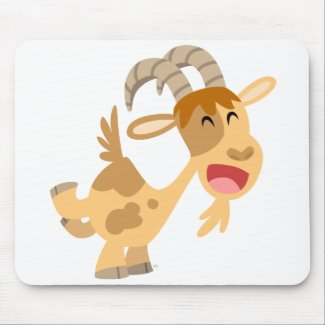 Cute Happy Cartoon Goat Mousepad mousepad
