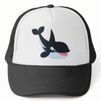 Cute Happy Cartoon Killer Whale Hat