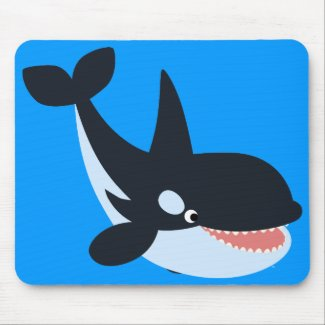 Cute Happy Cartoon Killer Whale Mousepad
