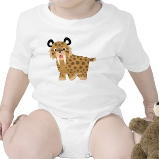 Cute Happy Cartoon Smilodon Baby Clothing shirt