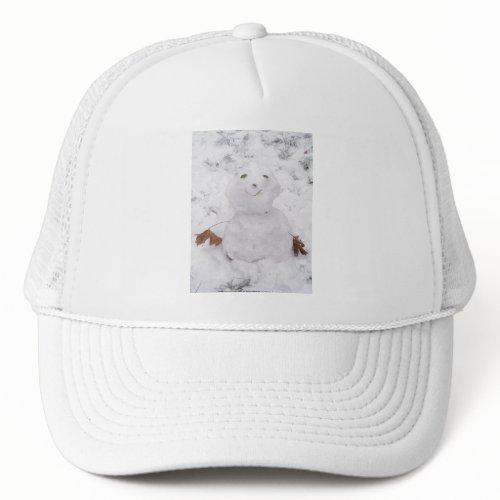 cute happy snowman hat