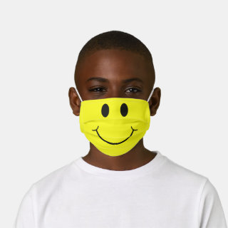 Cute Happy Yellow Face Kids' Cloth Face Mask