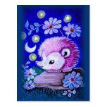 Cute Hedgehog With Moon Postcard