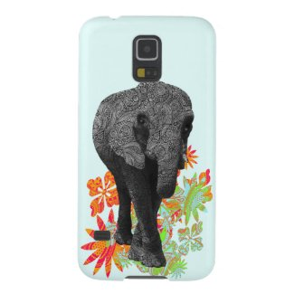 Cute Hippie Elephant Galaxy S5 Cases