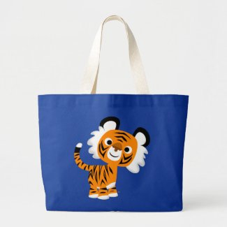 Cute Inquisitive Cartoon Tiger Bag bag
