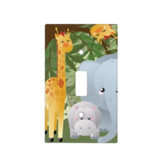 Cute Jungle Animals Light Switch Cover