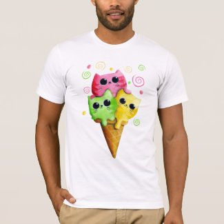 Cute Kitty Cat Ice Cream T-Shirt