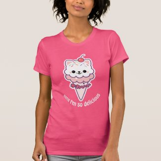 Cute Kitty Ice Cream T-Shirt