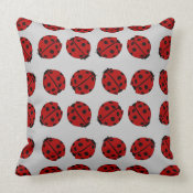 Cute Ladybugs American MoJo Pillow throwpillow