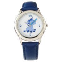 Cute Little Blue Unicorn Watch
