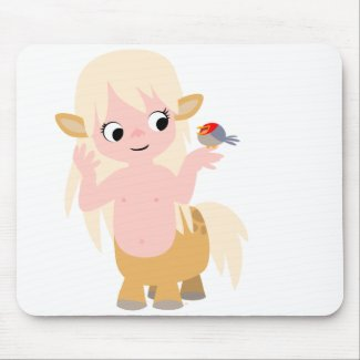 Cute Little Cartoon Centauress Mousepad mousepad