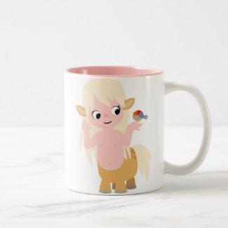 Cute Little Cartoon Centauress Mousepad mug