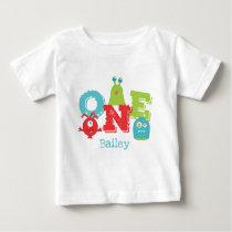 Little Monster 1st Birthday First Baby T Shirt Zazzle Com