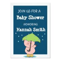 Cute little pig Baby Shower Card