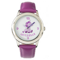 Cute Little Violet and Pink Unicorn with Name Watch