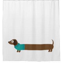 dachshund shower curtains zazzle