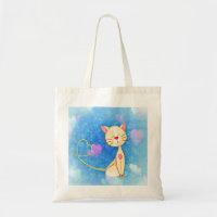 Cute Love Cat Tote Bag