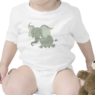 Cute Merry Cartoon Elephant Baby Apparel shirt
