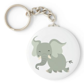 Cute Merry Cartoon Elephant Keychain keychain