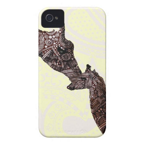 Cute mother and baby giraffe casemate_case