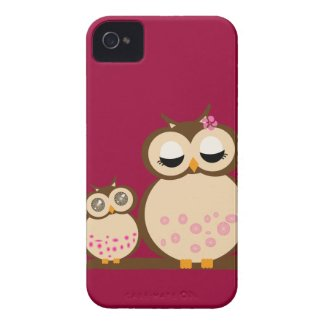 Cute Mother & Baby Owl casematecase