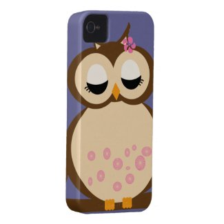 Cute Mother Owl - blue background casematecase