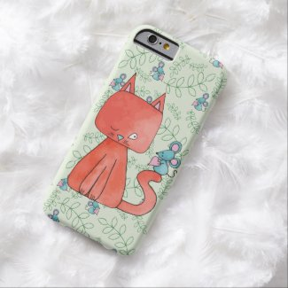 Cute Mouse Loves Kitty Cat Barely There iPhone 6 Case