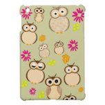 Cute owl and floral pattern iPad mini cases ipad mini cases