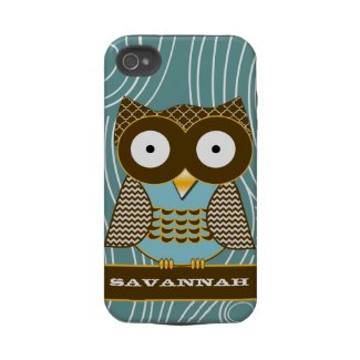 Cute Owl Moorish Zig Zag Pattern Choose Your Color iphone 4/4s casematecase