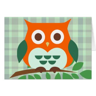 Cute Owl on a Branch Cards