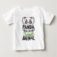 Cute Panda Is My Spirit Animal Print Baby T-Shirt