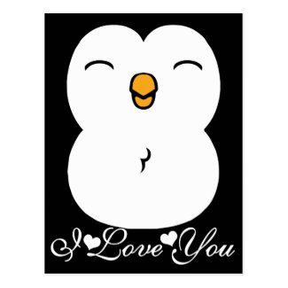 Cute Penguin Graphic I Love YOu Post Cards