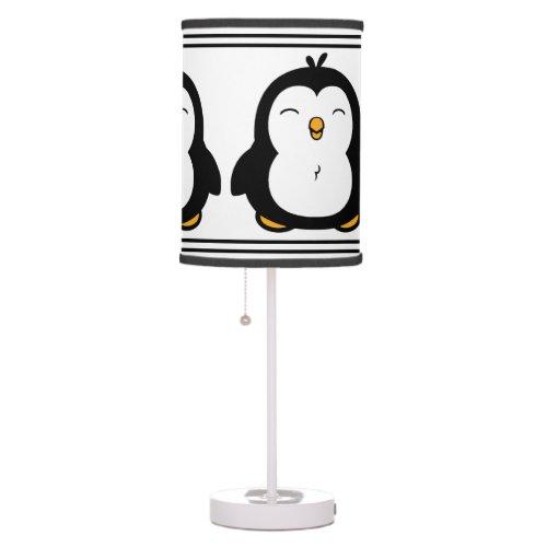 Cute Penguins Table Lamp