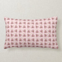 Cute pink brown ladybugs decorative pillow