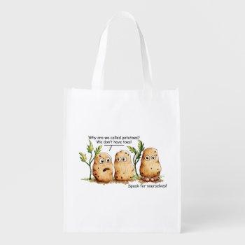 Cute Potatoes Toes Funny Potato Pun Grocery Bag