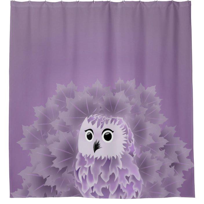 cute purple owl shower curtain zazzle com