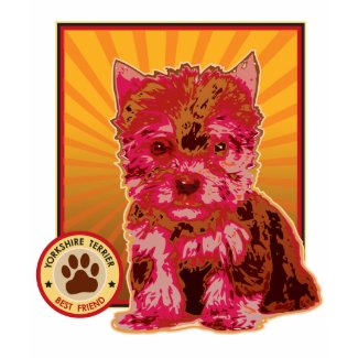 Cute Red Yorkie Puppy Dog - Yorkshire Terrier shirt