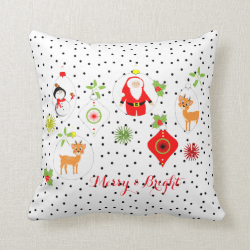 Cute Retro Style Festive Themed Home Decor Pillows