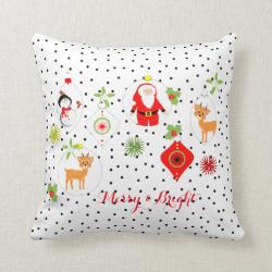 Cute Retro Style Festive Themed Home Decor Pillows