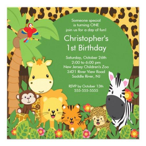 personalized zoo invitations custominvitations4u com