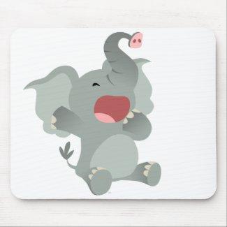 Cute Sleepy Cartoon Elephant Mousepad mousepad
